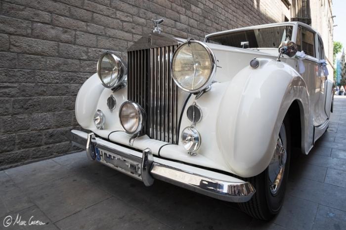 Boda en Santa Maria del Mar. Rolls Royce!